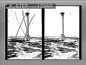 view Pompey's Pillar, the sailor's landmark, and modern Alexandria, N. toward the sea. 2518 photonegative digital asset: Pompey's Pillar, the sailor's landmark, and modern Alexandria, N. toward the sea. 2518 photonegative 1910