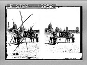 "view A ""Ship of the desert"" passing tombs of bygone Moslem rulers outside east wall of Cairo. [Active no. 2522 : stereo photonegative,] digital asset: A ""Ship of the desert"" passing tombs of bygone Moslem rulers outside east wall of Cairo. [Active no. 2522 : stereo photonegative,] 1896."