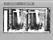 view The famous colonnade of the great Hypostyle Hall in the Temple of Karnak, Thebes. [Active no. 2574 : stereo photonegative,] digital asset: The famous colonnade of the great Hypostyle Hall in the Temple of Karnak, Thebes. [Active no. 2574 : stereo photonegative,] 1897.