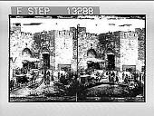 view The Jaffa Gate--from outside--Jerusalem. 3089 Photonegative digital asset: The Jaffa Gate--from outside--Jerusalem. 3089 Photonegative.