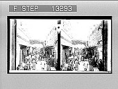 view Christian Street--motley life in the Holy City's bazaar district--Jerusalem. [Active no. 3098 : stereo photonegative.] digital asset number 1