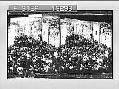 view Pilgrims on the Via Dolorosa, the route to Calvary, Jerusalem. 3102 Photonegative digital asset: Pilgrims on the Via Dolorosa, the route to Calvary, Jerusalem. 3102 Photonegative.