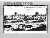 """view The """"Dome of the Rock,"""" site of Solomon's Temple--from the northwest--Jerusalem. 3109 Photonegative digital asset: The """"Dome of the Rock,"""" site of Solomon's Temple--from the northwest--Jerusalem. 3109 Photonegative 1900."""