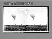 view Japanese war balloon in the rear of the besieging army--Port Arthur. 4400 photonegative 1904 digital asset number 1