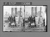 view Major-General Wheeler, Col. Wood, Lieut-Colonel Roosevelt, Major Brodie, Major Dunn and Chaplain Brown. [Active no. 5101 : stereo photonegative,] digital asset: Major-General Wheeler, Col. Wood, Lieut-Colonel Roosevelt, Major Brodie, Major Dunn and Chaplain Brown. [Active no. 5101 : stereo photonegative,] 1898.