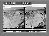 view Tireless Niagara--Horseshoe Falls, from above. 5407 Photonegative digital asset number 1
