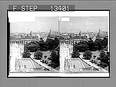 view From Navy Department (S.E.) past the White House and Treasury to the Capitol. [Active no. 5605 : stereo photonegative.] digital asset: From Navy Department (S.E.) past the White House and Treasury to the Capitol. [Active no. 5605 : stereo photonegative.]