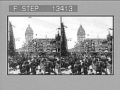 view Busy Market Street, of the City of the Golden Gate, San Francisco. [Active no. 5949 : stereo photonegative.] digital asset number 1