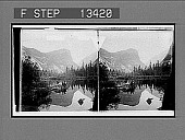 view Mirror Lake, where Nature multiplies her charms--looking (N.E.) to Mt. Watkins. [Active no. 6038 : stereo photonegative.] digital asset: Mirror Lake, where Nature multiplies her charms--looking (N.E.) to Mt. Watkins. [Active no. 6038 : stereo photonegative.]