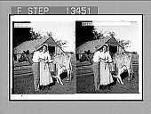 view Taking the cream. [Active no. 7046 : black-and-white stereo photonegative,] digital asset: Taking the cream. [Active no. 7046 : black-and-white stereo photonegative,] 1904.