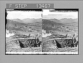 view Japanese batteries firing on the Russian forts--siege of Port Arthur. 7562 Photonegative digital asset: Japanese batteries firing on the Russian forts--siege of Port Arthur. 7562 Photonegative