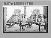 view Syracuse cathedral from N.W., showing Doric columns of older pagan temple in N. wall. Active no. 8593 : stereo photonegative digital asset: Syracuse cathedral from N.W., showing Doric columns of older pagan temple in N. wall. Active no. 8593 : stereo photonegative, 1905.