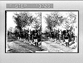 view [Troops line road beside hospital in India.] photonegative digital asset: [Troops line road beside hospital in India.] photonegative 1906.