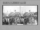 view [Huge street crowd in India.] 8802 photonegative digital asset: [Huge street crowd in India.] 8802 photonegative 1906.