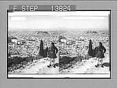 view Athens, old and new, S.W. from Lykabettos past Royal Palace (left) and Acropolis to the sea. 9278 Photonegative digital asset: Athens, old and new, S.W. from Lykabettos past Royal Palace (left) and Acropolis to the sea. 9278 Photonegative.