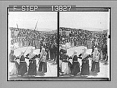 view Old Greek types of beauty among village women at an Easter dance (outlook east), Megara. 9304 Photonegative digital asset: Old Greek types of beauty among village women at an Easter dance (outlook east), Megara. 9304 Photonegative 1905