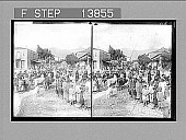 view In Sparta--villagers and countrymen on market day--W, through Ares St. to mountains. 9325 photonegative 1905 digital asset number 1