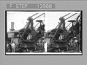 view President Roosevelt running an American steam-shovel at Culebra Cut. [Active no. 9359 : stereo photonegative,] digital asset: President Roosevelt running an American steam-shovel at Culebra Cut. [Active no. 9359 : stereo photonegative,] 1906.