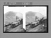 """view Giant steam-shovel """"making the dirt fly"""" in deep cut Culebra, Panama Canal. 9360 Photonegative digital asset: Giant steam-shovel """"making the dirt fly"""" in deep cut Culebra, Panama Canal. 9360 Photonegative 1905."""