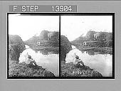 view Looking through Bas Obispo Cut, where the great canal enters mountain range. 9364 Photonegative digital asset: Looking through Bas Obispo Cut, where the great canal enters mountain range. 9364 Photonegative 1905.