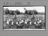 view [Children circling around Maypole in field.] 9418 photonegative 1905 digital asset number 1
