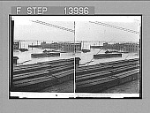 view [Overview of flooded river, buildings and railroad yard. Active no. 9437 : stereo photonegative.] digital asset number 1