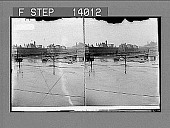view [Long view of flooded city buildings and street.] 9457 Photonegative digital asset number 1