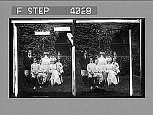 view President Roosevelt and his family at their summer home, Sagamore Hill, Oyster Bay, N.Y. Caption no. 10003 : stereoscopic photonegative digital asset: President Roosevelt and his family at their summer home, Sagamore Hill, Oyster Bay, N.Y. Caption no. 10003 : stereoscopic photonegative.