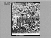 view A kill in the Exe valley, with the Devonshire and Somerset stag hounds. [Active no. 10183 : half-stereo photonegative,] 1908 digital asset number 1