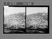 view Hillside gardens of wealthy citizens on Mt. Lofty, Adelaide's beautiful suburb. [Active no. 10236 : stereo photonegative,] 1908 digital asset number 1