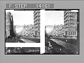 view Looking toward Treasury Building, along Collins St., N.E. from Queen St., Melbourne. [Active no. 10237 : stereo photonegative,] digital asset: Looking toward Treasury Building, along Collins St., N.E. from Queen St., Melbourne. [Active no. 10237 : stereo photonegative,] 1908.