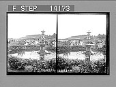 view Throngs on the grandstand at the most popular race meeting in the world. [Active no. 10246 : stereo photonegative,] digital asset: Throngs on the grandstand at the most popular race meeting in the world. [Active no. 10246 : stereo photonegative,] 1908.