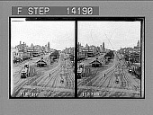 view Looking south up Stuart St. past the Town Hall, Ballarat, Victoria. [Active no. 10262 : stereo photonegative,] 1908 digital asset number 1