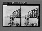 view Famous Hawksbury Bridge and river (S.), near Sydney. [Active no. 10273 : stereo photonegative,] 1908 digital asset number 1