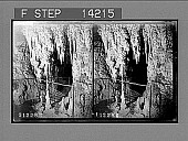 """view Entrance to the """"Marguerita Chamber,"""" veiled by stalactite draperies, Jenclan. [Active no. 10281 : stereo photonegative] digital asset: Entrance to the """"Marguerita Chamber,"""" veiled by stalactite draperies, Jenclan. [Active no. 10281 : stereo photonegative], 1908."""