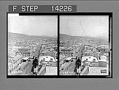 view Hobart, Tasmania's progressive capital city, S.W. from the Post Office. 10291 Photonegative 1908 digital asset number 1