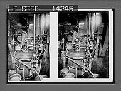 view Aparatus for pasteurizing milk in an up-to-date dairy. [Active no. 10774 : stereo photonegative.] digital asset: Aparatus for pasteurizing milk in an up-to-date dairy. [Active no. 10774 : stereo photonegative.]