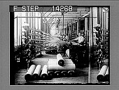view Warping machine at work in a big, up-to-date woolen mill. 10796 photonegative digital asset: Warping machine at work in a big, up-to-date woolen mill. 10796 photonegative 1909.