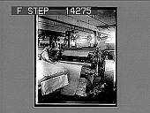 view Shearing the nap on woolen fabrics in a big modern mill. 10802 photonegative digital asset: Shearing the nap on woolen fabrics in a big modern mill. 10802 photonegative 1909.