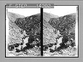 view [River rapids in mountains in Palestine.] 10814 photonegative digital asset: [River rapids in mountains in Palestine.] 10814 photonegative 1907.