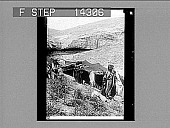view A Bedouin boy and his mother at a camp in the wilderness of Beersheba. 10817 Photonegative 1906 digital asset number 1
