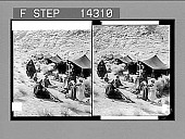 view A Bedouin camp on the Israelites' old ground at base of Mount Sinai 10825 Photonegative digital asset: A Bedouin camp on the Israelites' old ground at base of Mount Sinai 10825 Photonegative 1910.