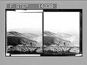 view From lonely Machaerus--John's prison--W. across Dead Sea to Judea. 10844 Photonegative digital asset: From lonely Machaerus--John's prison--W. across Dead Sea to Judea. 10844 Photonegative 1910