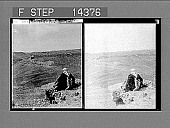 view Old stronghold of Kerak, in Moab--view S. over modern Turkish town, Syria. 10900 Photonegative 1910 digital asset number 1
