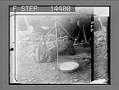 view Bedouin women churning milk--typical interior of a big tent. 10921 photonegative 1910 digital asset number 1