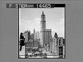 view Woolworth Building, tallest in the world, product of five and tent cent pieces. [Active no. 11403 : half-stereo photonegative] digital asset: Woolworth Building, tallest in the world, product of five and tent cent pieces. [Active no. 11403 : half-stereo photonegative].