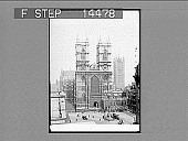 view Westminster Abbey south to Victoria Tower, London. [Active no. 11412 : half-stereo photonegative.] digital asset: Westminster Abbey south to Victoria Tower, London. [Active no. 11412 : half-stereo photonegative.]