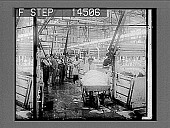 view Dyeing silk in the piece in a mammoth silk dyeing works, Paterson, N.J. [Active no. 11452 : stereo photonegative,] digital asset: Dyeing silk in the piece in a mammoth silk dyeing works, Paterson, N.J. [Active no. 11452 : stereo photonegative,] 1913.