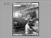 view Finishing processes for silk cloth--breaking, folding and pressing in a Paterson Silk Dyeing Works. 11456 photonegative 1913 digital asset number 1
