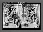 view A skilled Arab weaver and his primitive loom weaving the finest of Syrian silk. [Active no. 11467 : stereo photonegative,] digital asset: A skilled Arab weaver and his primitive loom weaving the finest of Syrian silk. [Active no. 11467 : stereo photonegative,] 1913.